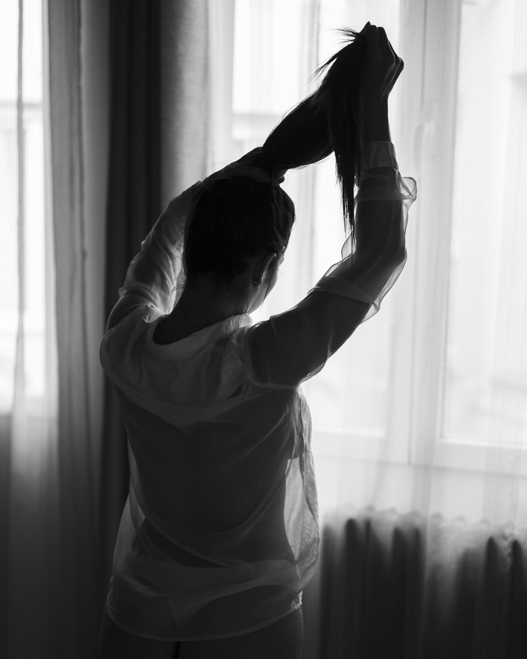 Fotografía en topless camisa transparente - Tufotpro Fotografía Boudoir